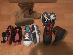Size 7 toddler girl shoes and boots for Sale in Duluth, GA