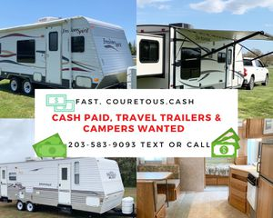 Travel Trailers & Campers Wanted, Cash Paid for Sale in Bethany, CT