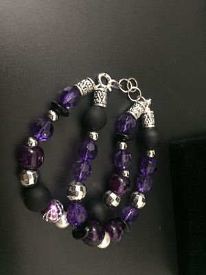 Two-Strand Purple Stretch Bracelet for Sale in Upper Marlboro, MD