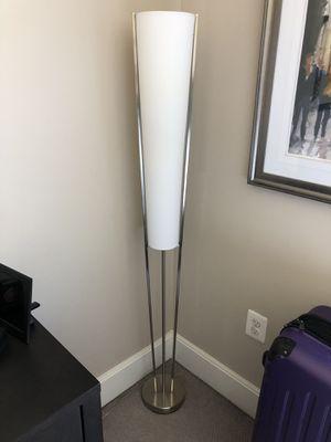 Floor lamp (white w silver) - in Reston VA for Sale in Reston, VA