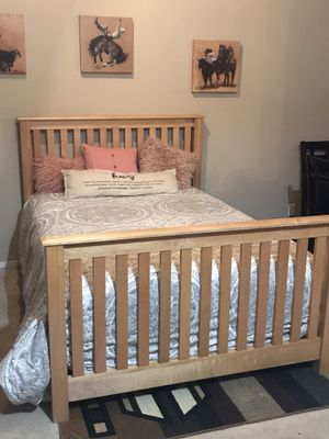 Awesome full size bed complete with mattress for Sale in Modesto, CA