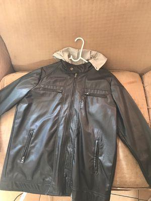 Black Leather Jacket Size L for Sale in Santa Monica, CA