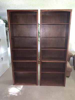 Two Beautiful Wooden Bookshelves! for Sale in Orlando, FL
