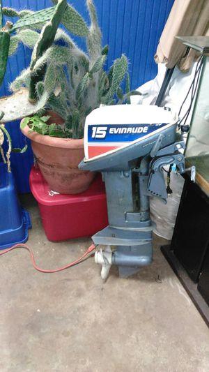 Boat motors 2 15hp evinrudes for Sale in Gardner, IL