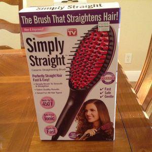 Simply Straight Ceramic Hair Straightening Brush for Sale in Hollywood, FL