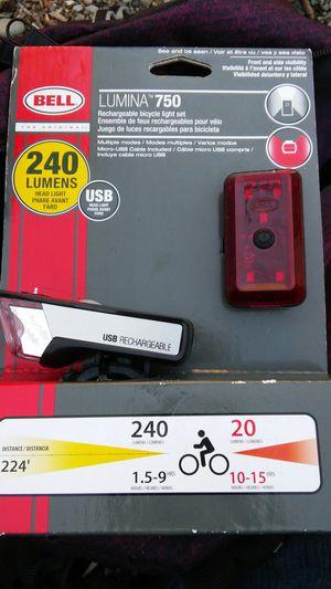 Bell bike light set and bell bike lock for Sale in Auburn, WA