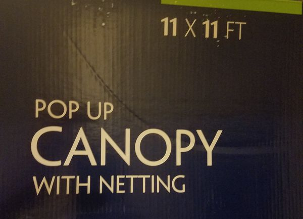 Canopy pop up Tent with netting 11x11