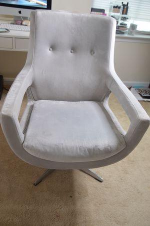 Velvet Gray swivel chair for Sale in Baltimore, MD