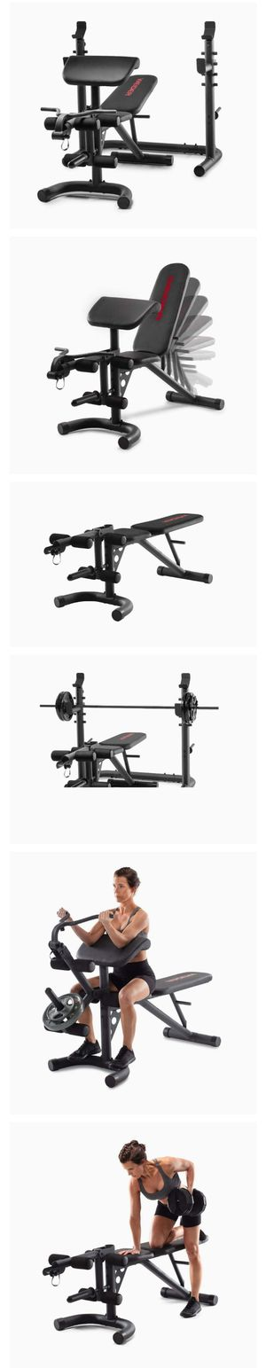 Weider XRS 20 Olympic Workout Bench with Independent Squat Rack and Preacher Pad for Sale in El Monte, CA