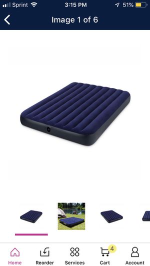 Intex air bed/mattress (Queen Size) for Sale in Aurora, IL