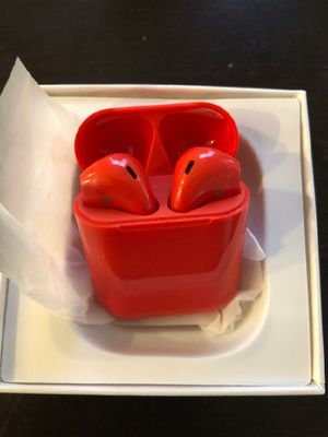2020 mini red or black Bluetooth wireless headphones earbuds for iPhone and android longer battery life. Not airpods but are the same size for Sale in Phoenix, AZ