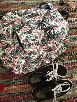 Vans women 7 and backpack for Sale in West Hollywood, CA