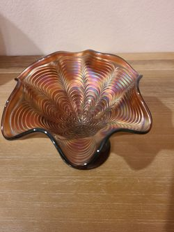 Vintage Fenton Carnival Glass Footed Dish for Sale in Westfield,  IN
