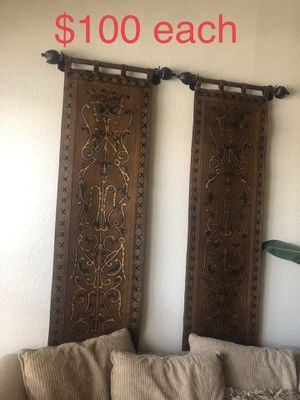 Wall leather tapestries asking $200 for both OBO for Sale in Chandler, AZ