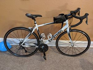 Tommaso Forcella Endurance Aluminum Road Bike, Carbon Fork, Shimano Claris R2000, 24 Speeds, Aero Wheels, Matte Black, Matte White for Sale in Lake Mary, FL