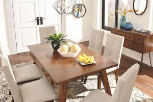 Centiar - Two-tone Brown - 7 Pc. - RECT DRM Table & 6 UPH Side Chairs for Sale in Naples, FL