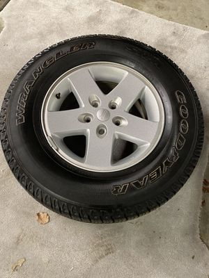Jeep Wrangler set of wheels and tires for Sale in Richmond, VA