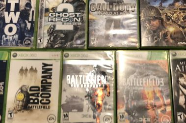 Xbox 360 Shooter Games Set (9 Games For $45) for Sale in Rowland Heights,  CA