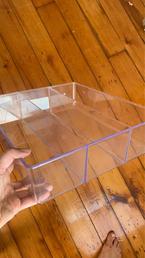 3 compartment acrylic drawer organizer for Sale in Brooklyn, NY
