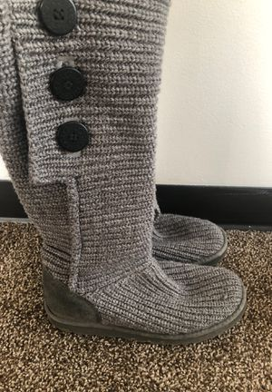 Gray UGG Boots Size 10 for Sale in Seattle, WA