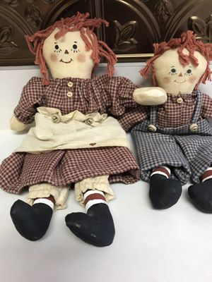 Vintage Handcrafted Raggedy Ann & Andy for Sale in Charlotte, NC