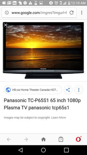 65 Panasonic Viera TCP65S1 Plasma TV for Sale in Puyallup, WA