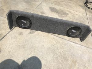 "Ford lightning subwoofer box with 2 re audio 8"" speakers for Sale in Baldwin Park, CA"