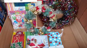 Assorted sizes and styles gift bags an two wreath decor. All brand new. The small wreath is hand made. for Sale in Auburn, WA