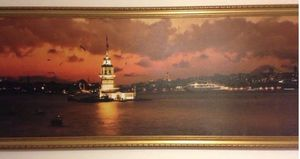 """109""""x 30"""" Maiden Tower Canvas Picture , Turkey Istanbul frame picture for Sale in Hoffman Estates, IL"""