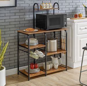"""Kitchen Baker's Rack Utility Storage Shelf 35.5"""" Microwave Stand 4-Tier+3-Tier Table for Spice Rack for Sale in Plains, PA"""