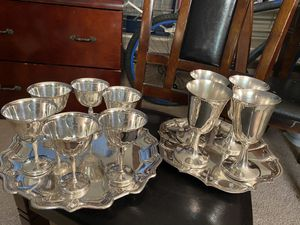 two sets of silver or silver plated cups,negotiable for Sale in Beltsville, MD