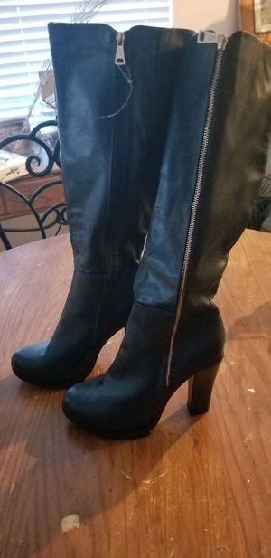 0318aeb8d Tall navy blue platform boot super cute. New never worn. Paid  60 for Sale