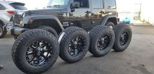 Jeep WRANGLER wheels and TIRES 17 inches BRAND new $1490 for Sale in Anaheim, CA