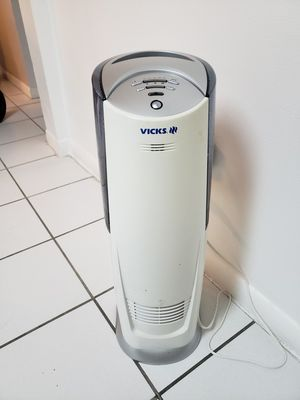 Vicks Cool Mist Tower Air Humidifier Purifier V3800 for Sale in Miramar, FL