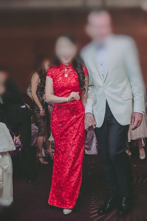 Red Chinese style dress (qipao) for Sale in Falls Church, VA