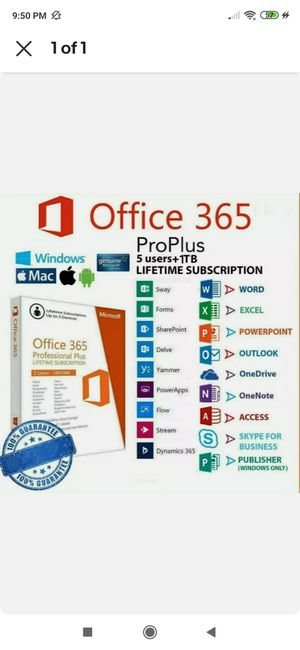 Windows keyMicrosoft office 365 pro plus 2019 genuine lifetime activation for Sale in Cary, NC