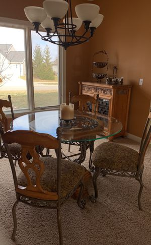 Ashley Dining Room Table 4 Chair and/or Hutch for Sale in Fort Wayne, IN