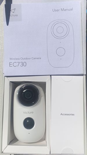 Victure 1080P Outdoor Camera Wireless Rechargeable Battery Powered Home Security WiFi Camera with IP65 Waterproof PIR Motion Detection 2-Way Audio an for Sale in Los Angeles, CA