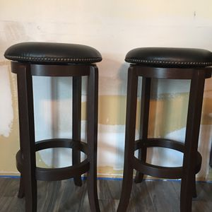 4 Bar Stools with Leather Swivel Seat for Sale in Commack, NY