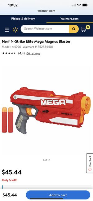 NERF N-Strike Elite Mega Magnus Blaster Toy Gun for Sale in Miami, FL