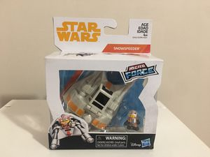 Star Wars Micro Force Snowspeeder w/ Luke Skywalker Figure for Sale in Mantua, OH