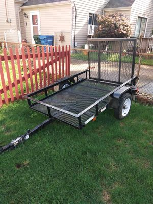 2011-4x6 utility trailer with ramp and lights $600 for Sale in Brunswick, OH