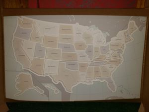 USA picture frame map for Sale in Galena, OH