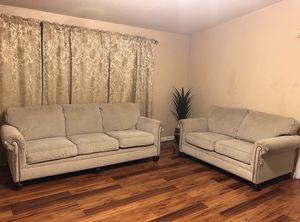 Beige living room loveseat & sofa set. for Sale in Shoreline, WA