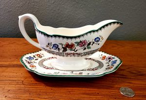 Antique / Vintage Spode Chinese Rose Gravy Boat with Unattached Saucer Tray for Sale in Orlando, FL