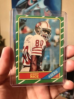 1986 Topps Jerry Rice Rookie Card for Sale in Parlier, CA