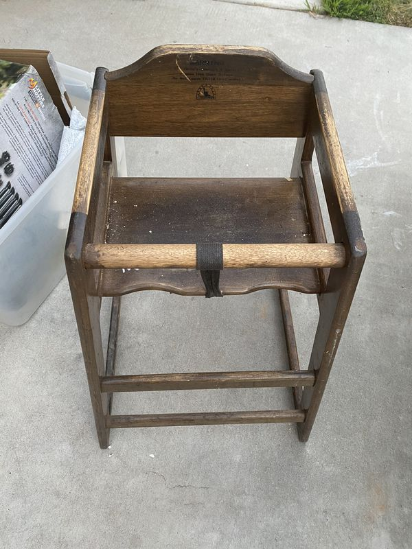 Pair Wooden commercial high chairs