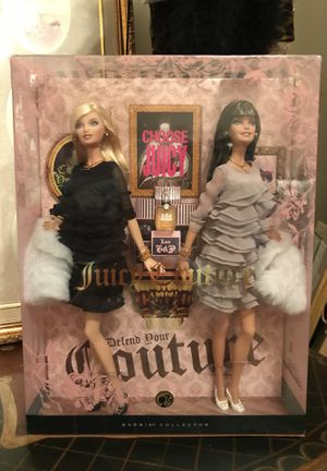 Gorgeous! Two! Collectors Juicy Couture Barbies with real Juicy Couture Mini Perfume for Sale in Gainesville, VA