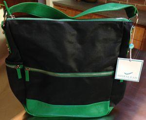 "NWT Shiraleah ""Mercer"" Black and Kelly Green Large Hobo Style Handbag for Sale in Hillsboro, OR"