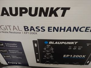 Car audio system : blaupunkt digital bass processor & Scosche 6 feet rca jack ( brand new price is lowest shipping available ) for Sale in Santa Ana, CA